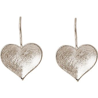 Gemshine Women's Heart Earrings Earrings 925 Silver 2.5 cm