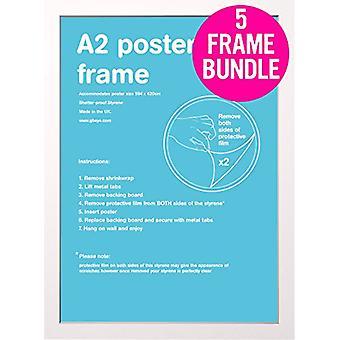 GB julisteita 5 valkoinen A2 MDF juliste kehyksiä 42 x 59,4 cm nippu