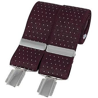 David Van Hagen Classic Pin Dot Fashion Brace - Burgundy