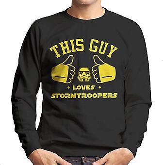 Alkuperäinen Stormtrooper tämä kaveri rakastaa sotilaat miesten svetaripaita