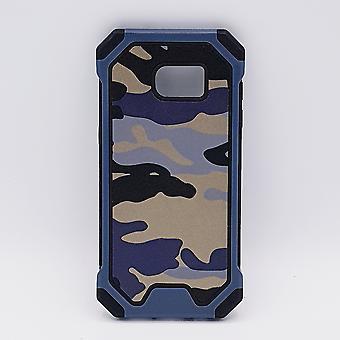 Pour le bleu de Samsung S7 cas-Camouflage