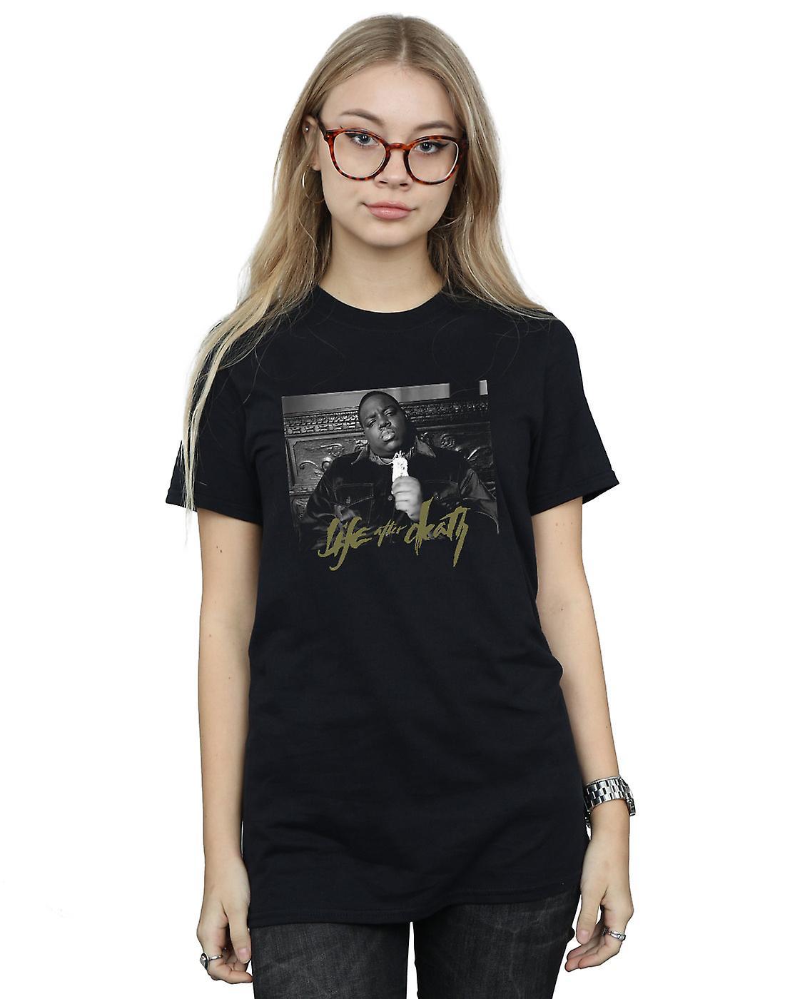 Notorious BIG Women's Life After Death Photo Boyfriend Fit T-Shirt