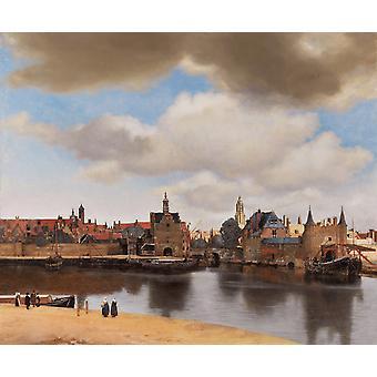Vue de Delft, Jan Vermeer, 60x50cm