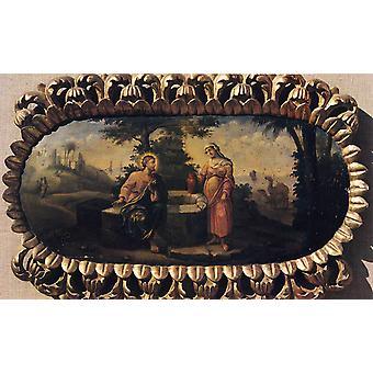 Jesus und der Samariter, Nicolae Grigorescu, 60x40cm