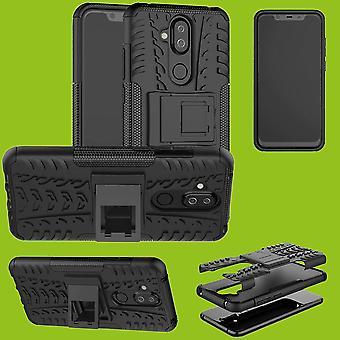 ノキア 3.1 プラス 6.0 インチ ハイブリッド 2 ピース SWL 屋外黒アクセサリー ケース スリーブ カバー保護をケースします。