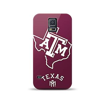 5 Pack -Mizco Sports NCAA Oversized Snapback TPU Case for Samsung Galaxy S5 (Texas A&M Aggies)