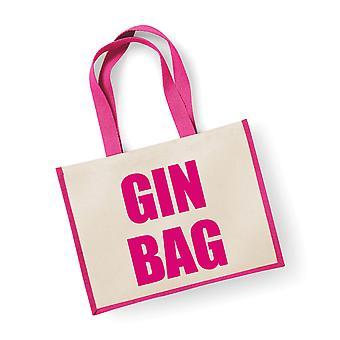 Gin do saco de juta rosa grande