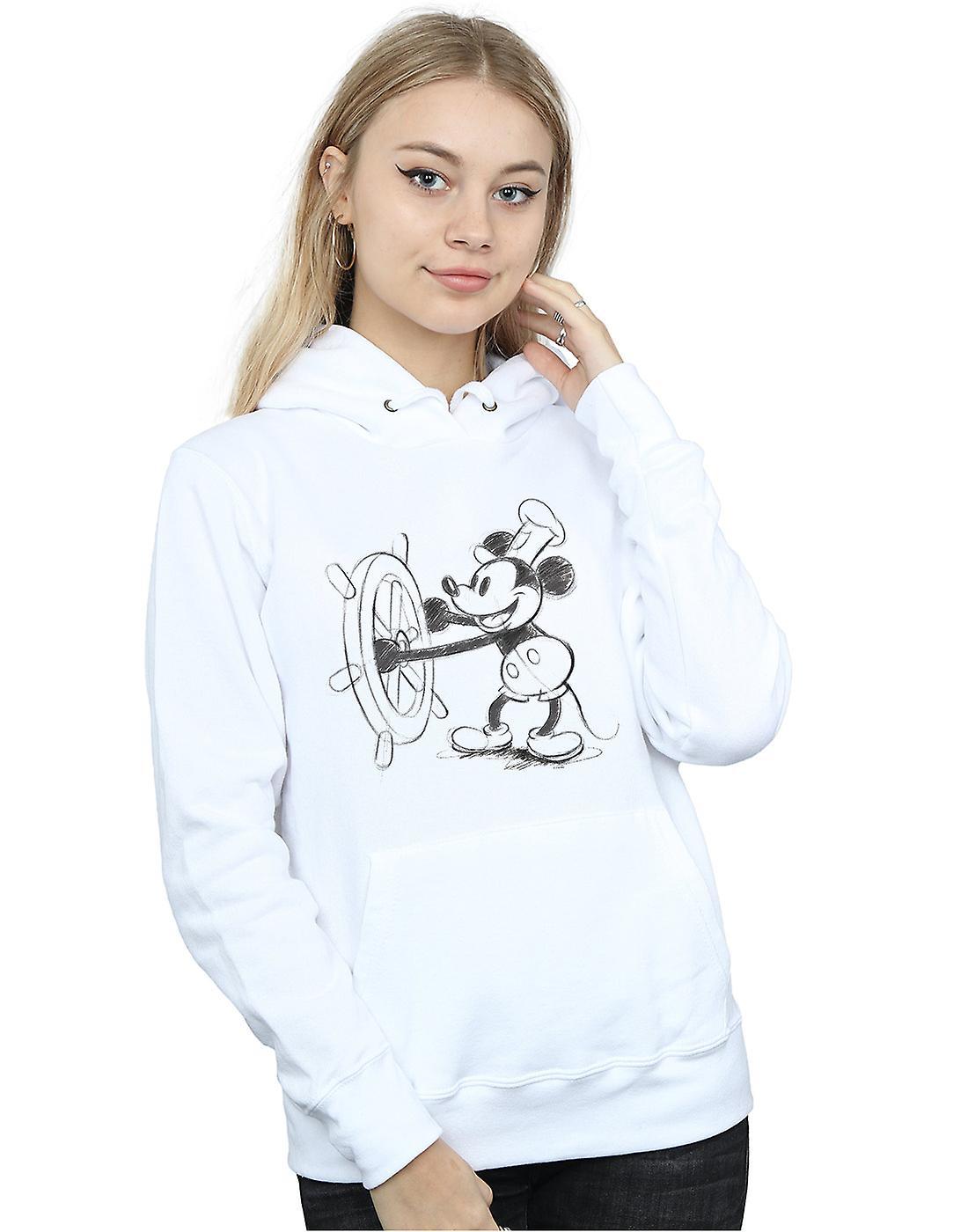 Disney Women's Mickey Mouse Steamboat Sketch Hoodie