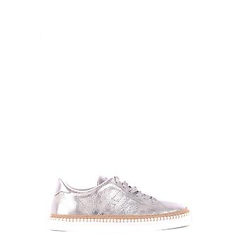 Hogan Hxw2600ad70iqyb200 Women's Silver Leather Sneakers