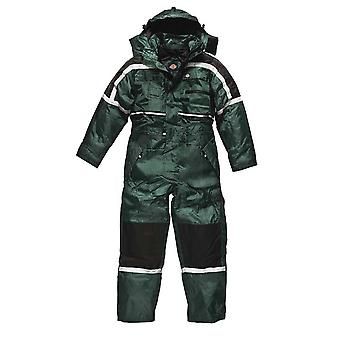 Mens de DICKIES Workwear imperméable rembourrée Coverall vert WP15000G