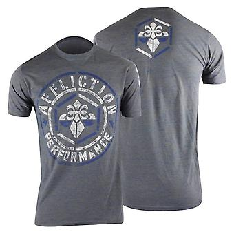 Affliction Mens Build Up T-Shirt - Gray