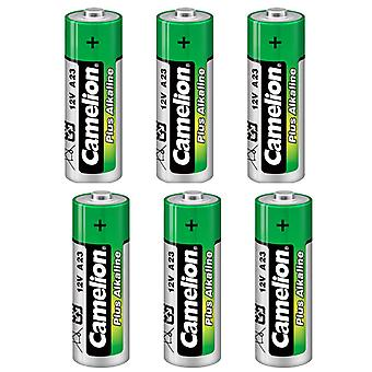 6-pack Battery 23A, A23 12V Camelion Alkaline batteries