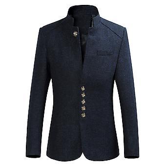 Allthemen muži ' s Solid Zhongshan kostým stojánek na oblek Slim Fit sako