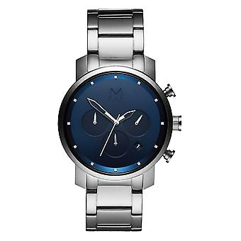 MVMT Chrono Midnight Silver Men's Watch Watch stainless steel MC02-SBLU