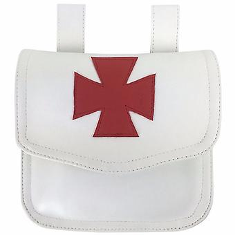 Knight Templar Alms Bag White