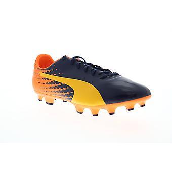 Puma EvoSpeed 17,4 FG mens blauwe lage top atletische Soccer cleats schoenen