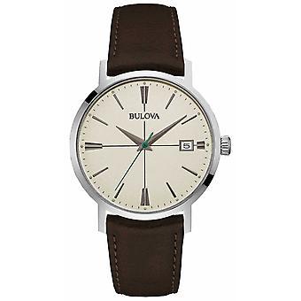 Bulova Men's Aerojet Brown Leather Strap 96B242 Watch