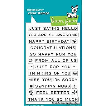 Lawn Fawn Simply Sentiments Clear Stamps