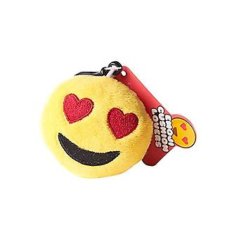 Emoji Cushion Keyring - Heart Eyes