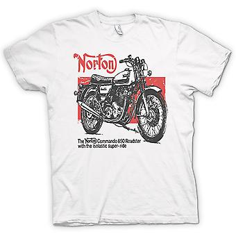 T-shirt Mens-Norton Commando 850 Roadster