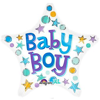 Anagram Baby Boy 18 Inch Star Shaped Foil Balloon
