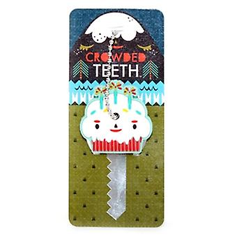 Key Cap  - Crowded Teeth - Cup Cake Rubber PVC Anime New Licensed ctkc0012