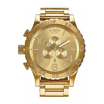 Nixon 51/30 Quartz Analog Man Watch with Stainless Steel Bracelet In Gold Plated A083502