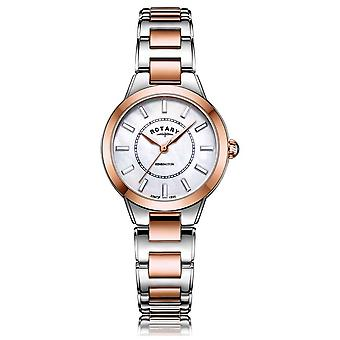 Rotary | Ladies Two Tone Rose Gold Bracelet | LB05377/41 Watch