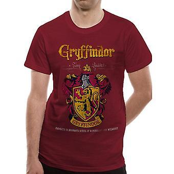 Harry Potter Adultes Unisex Gryffindor Crest T-Shirt