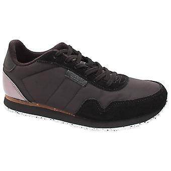 Woden Nora 11 Breathable Lace Up Black Trainer