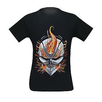 Ghost Rider Flaming kypärä miesten ' s T-paita