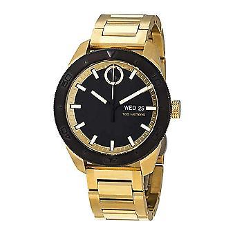 Movado Bold Gold-Tone Mens Watch 3600605