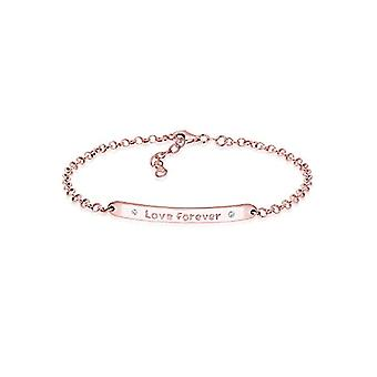 Sterling 925 silver woman elli - rose gold plated - with Swarovski crystals'FOREVER LOVE' - length 17 cm - 0202120316