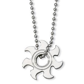 Roestvrij staal gepolijst Fancy Kreeft Sluiting Sun Burst Ketting 22 Inch Sieraden Geschenken voor vrouwen