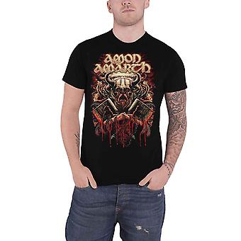 Amon Amarth T Shirt Fight Band Logo new Official Mens Black