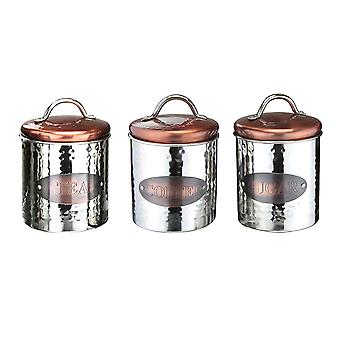 Apollo Copper Tea Coffee Sugar Canisters