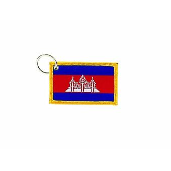Cle Cles Key Brode Patch Ecusson Badge Flag Cambodian