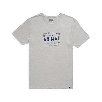 Animal Call Short Sleeve T-Shirt in Grey Marl