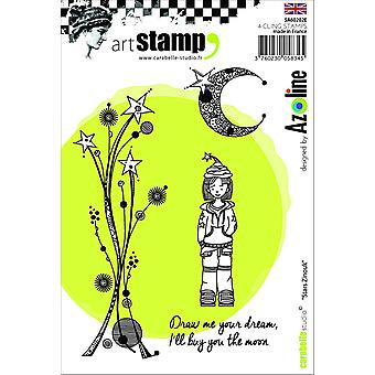 """Carabelle ستوديو النجوم زينوك """"التي أزوليني؛ الإنجليزية """"التشبث الطوابع، الأبيض/شفافة، A6"""