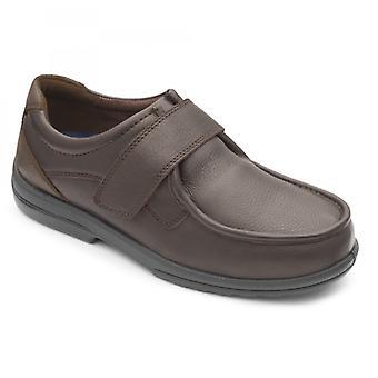Padders دونالد Mens جلد اضافية واسعة (ح / ك) أحذية البني الداكن