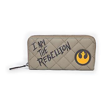 Star Wars I Am Rebeliunea Zip-in jurul Portofel pungă de sex feminin Tan (MW122060STW)