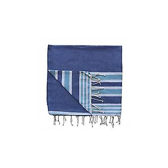 Royal Stripe Beach Throw Royal Blue