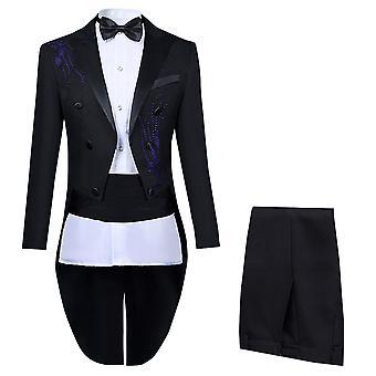 Allthemen menn ' s 4-Piece elegant bryllup slim fit kostymer Tuxedo Dress