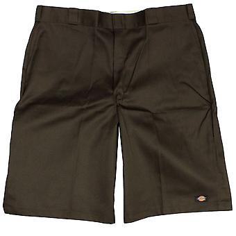 Dickies Men's 13 Inch Loose Fit Multi-Pocket Work Short Dark Brown