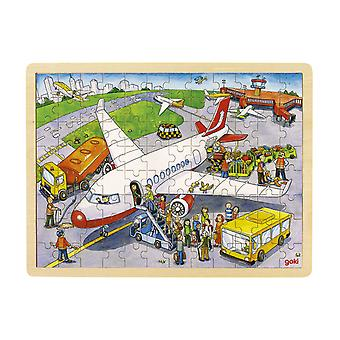 Goki Holz Fenster Puzzle am Fly Port 96St