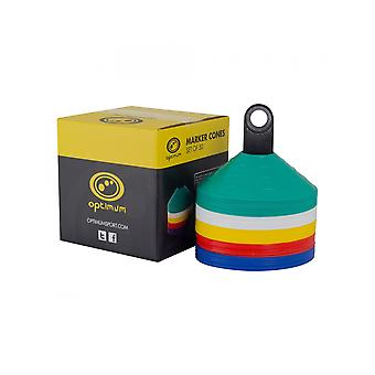 Optimum Sports Football Or Rugby Pitch Training Marker Cones - Set Of 50