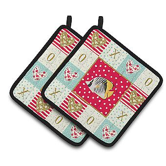 Carolines Treasures  CK5466PTHD Butterfly Fish Love Pair of Pot Holders