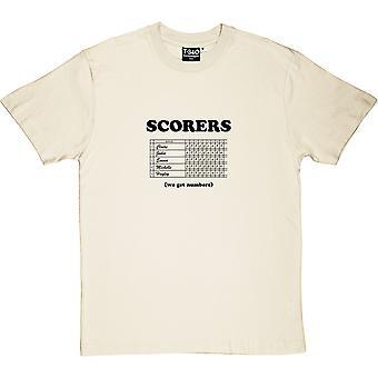 Artilheiros: Temos números naturais men's T-Shirt