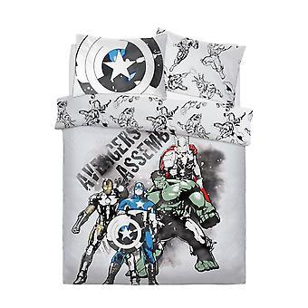 Set de ropa de cama de acuarela Marvel