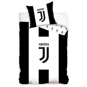 Juventus FC Conjunto de cubierta de edredón individual en blanco y negro - Tamaño europeo